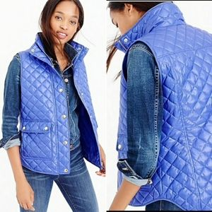 J.Crew Shiny Quilted Puffer Vest